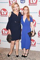Sara Stewart and Olivia Hallinan<br /> arriving for the TV Choice Awards 2017 at The Dorchester Hotel, London. <br /> <br /> <br /> &copy;Ash Knotek  D3303  04/09/2017