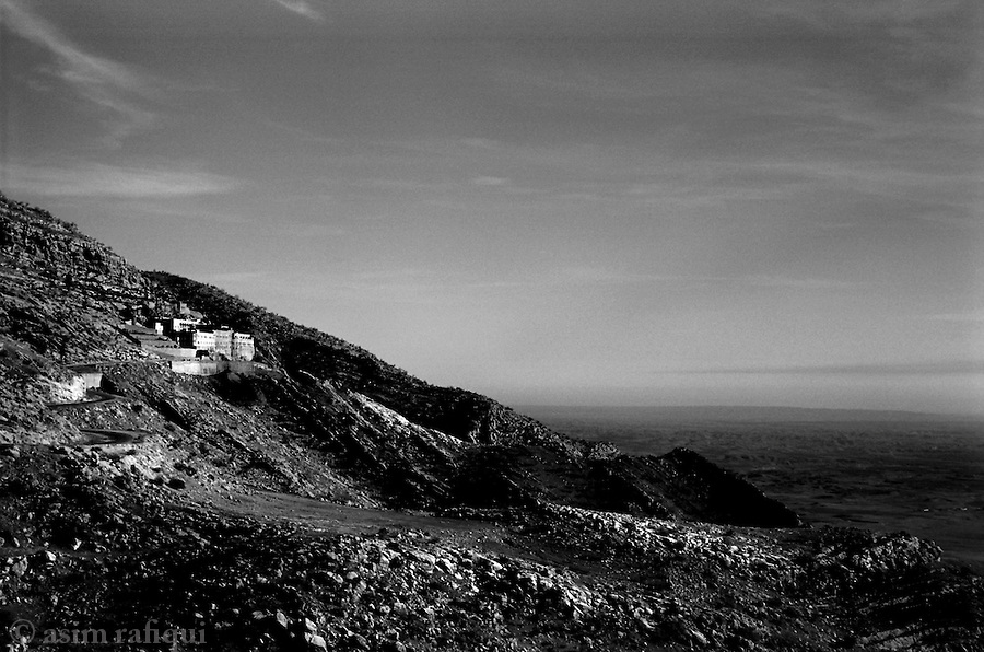 mar matti, northern iraq, 2005: the ancient monastery of mar matti overlooking the plains west of the city of irbeel.<br />