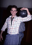 Luke Perry attends the Soap Star Bowling Benefit  at Bowlmar on February 20, 1985 in New York City.