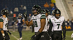 Hawaii defensive linemen Jonah Laulu smiles in the second half of an NCAA college football game against Nevada in Reno, Nev. Saturday, Sept. 28, 2019. (AP Photo/Tom R. Smedes)