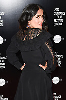 Salma Hayek at the premiere of &quot;Beatriz at Dinner&quot; at the Sundance Film Festival London Opening Night at Picturehouse Central, London.<br /> 01 June  2017<br /> Picture: Steve Vas/Featureflash/SilverHub 0208 004 5359 sales@silverhubmedia.com