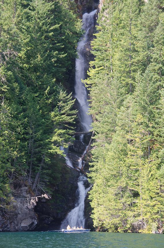 Waterfall, Ross Lake, Ross Lake National Recreation Area, North Cascades, Washington, August 2013