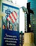 Ground Zero in 2001 lower manhattan,