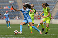 Bridgeview, IL - Sunday June 04, 2017: Christen Press during a regular season National Women's Soccer League (NWSL) match between the Chicago Red Stars and the Seattle Reign FC at Toyota Park. The Red Stars won 1-0.
