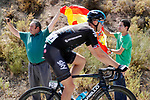 Spanish fans at the roadside as Ian Stannard (GBR) Team Sky passes by during Stage 13 of the 2017 La Vuelta, running 198.4km from Coin to Tomares, Seville, Spain. 1st September 2017.<br />