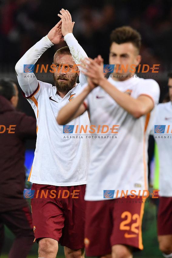 Daniele De Rossi, Stephan El Shaarawy Roma <br /> Genova 02-05-2016 Football Calcio Serie A 2015/2016  Genoa - AS Roma foto Image Sport/Insidefoto
