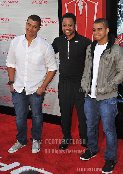 "Cuba Gooding Jr & sons Mason Gooding (left) & Spencer Gooding at the world premiere of ""The Amazing Spider-Man"" at Regency Village Theatre, Westwood..June 29, 2012  Los Angeles, CA.Picture: Paul Smith / Featureflash"