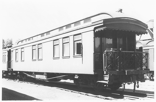 Business car B-3 (2nd) at Alamosa, CO.<br /> D&amp;RGW  Alamosa, CO  Taken by Maxwell, John W. - 7/4/1948
