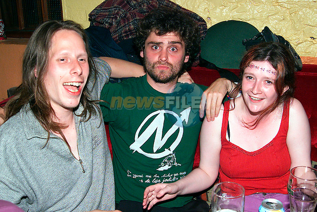 Christin Flyhmin, Estavan Munex and Kay Nally at the Samba party in the Rugby Club..Picture: Paul Mohan/Newsfile