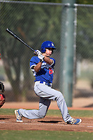 Los Angeles Dodgers first baseman Cody Bellinger (26) during an Instructional League game against the Cincinnati Reds on October 11, 2014 at Goodyear Training Complex in Goodyear, Arizona.  (Mike Janes/Four Seam Images)