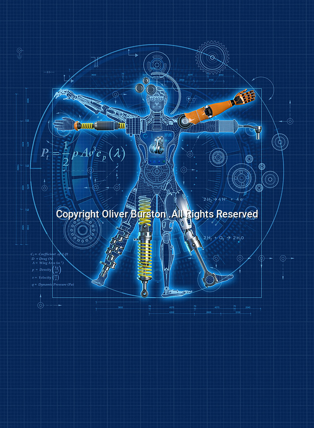Blueprint design for robotic Vitruvian Man