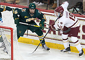 Derek Lodermeier (UVM - 16), Ryan Fitzgerald (BC - 19) - The visiting University of Vermont Catamounts tied the Boston College Eagles 2-2 on Saturday, February 18, 2017, Boston College's senior night at Kelley Rink in Conte Forum in Chestnut Hill, Massachusetts.Vermont and BC tied 2-2 on Saturday, February 18, 2017, Boston College's senior night at Kelley Rink in Conte Forum in Chestnut Hill, Massachusetts.