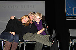 """Young and Restless Michelle Stafford and Maura West pose with One Life To Live Kim Zimmer """"Echo"""" at the Soapstar Spectacular starring actors from OLTL, Y&R and ex ATWT & GL on November 20, 2010 at the Myrtle Beach Convention Center, Myrtle Beach, South Carolina. (Photo by Sue Coflin/Max Photos)"""
