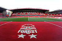 A general view of The City Ground home of Nottingham Forest<br /> <br /> <br /> Photographer Mick Walker/CameraSport<br /> <br /> The Carabao Cup First Round - Nottingham Forest v Fleetwood Town - Tuesday 13th August 2019 - The City Ground - Nottingham<br />  <br /> World Copyright © 2019 CameraSport. All rights reserved. 43 Linden Ave. Countesthorpe. Leicester. England. LE8 5PG - Tel: +44 (0) 116 277 4147 - admin@camerasport.com - www.camerasport.com
