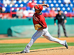 7 March 2011: Houston Astros' pitcher Henry Villar on the mound during a Spring Training game against the Washington Nationals at Space Coast Stadium in Viera, Florida. The Nationals defeated the Astros 14-9 in Grapefruit League action. Mandatory Credit: Ed Wolfstein Photo