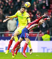 Atletico de Madrid's Lucas Hernandez (r) and Getafe CF's Jorge Molina during La Liga match. January 6,2018. (ALTERPHOTOS/Acero) /NortePhoto.com NORTEPHOTOMEXICO
