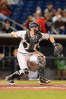 Wisconsin Timber Rattlers catcher Parker Berberet #22 during a game against the Quad Cities River Bandits on May 24, 2013 at Modern Woodmen Park in Davenport, Iowa.  Quad Cities defeated Wisconsin 4-3  (Mike Janes/Four Seam Images)