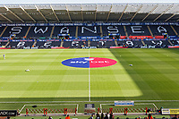 The EFL Skybet sponsor's logo in the centre of the pitch prior to the Sky Bet Championship match between Swansea City and Cardiff City at the Liberty Stadium, Swansea, Wales, UK. Sunday 27 October 2019