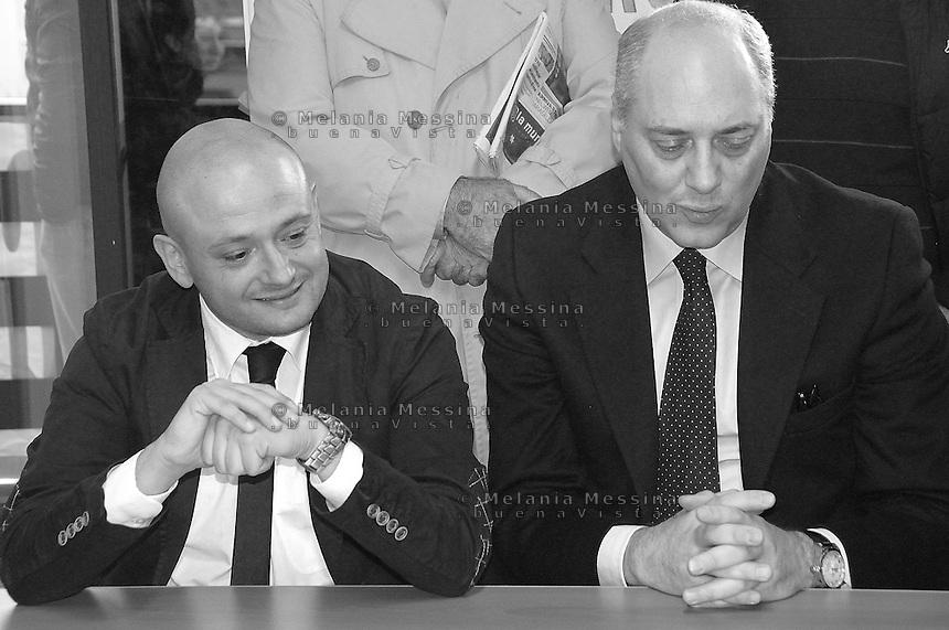 press conference of Francesco Pionati in Palermo  to announce candidacy for mayor of Giuseppe Mauro..conferenza stampa di Pionati (Alleanza di Centro) a Palermo per annunciare la candidatura a sindaco  di Giuseppe Mauro.