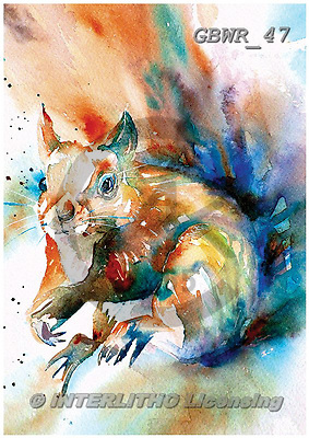 Simon, REALISTIC ANIMALS, REALISTISCHE TIERE, ANIMALES REALISTICOS, paintings+++++LizC_FormbyRedSquirrel,GBWR47,#a#, EVERYDAY