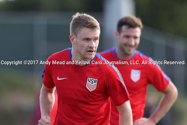 11 January 2017: Taylor Kemp. The United States Men's National Team held their first training session under new head coach Bruce Arena on The Murphy Family Field at the StubHub Center in Carson, California.