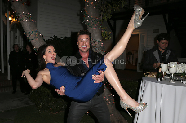 LOS ANGELES, CA - NOVEMBER 4: Emmanuelle Vaugier, Rene Horsch, at The 2017 Fluffball Benefiting Forgotten Horses Rescue! at The Lombardi House In Los Angeles, California on November 4, 2017. Credit: Faye Sadou/MediaPunch