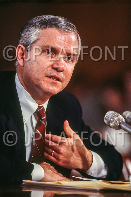 February 18th 1987, Washington, DC, USA. American director of the Central Intelligence Agency, Robert Gates.