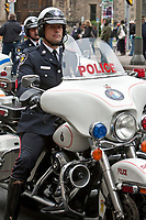 York Police motorcycle is seen during a police memorial parade in Ottawa Sunday September 26, 2010.