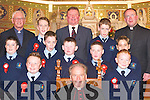 Bishop Bill Murphy with pupils from Castleisland Boys National School who received their Confirmation in St Stephen & Johns Church, Castleisland, on Thursday..