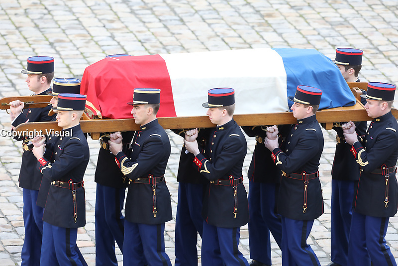 Hommage National ‡ JEAN D'ORMESSON - 08/12/2017 - Hotel des Invalides - Paris - France