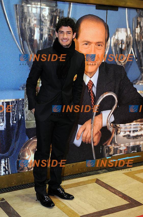 Alexandre Pato<br /> Milano, 13/03/2011 Teatro Manzoni<br /> 25&deg; anniversario di presidenza Berlusconi al Milan<br /> Campionato Italiano Serie A 2010/2011<br /> Foto Nicolo' Zangirolami Insidefoto