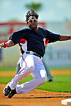 15 March 2009: Washington Nationals' outfielder Lastings Milledge is thrown out at third base in an attempted tag-up play in the first inning a Spring Training game against the Detroit Tigers at Space Coast Stadium in Viera, Florida. The Tigers shut out the Nationals 3-0 in the Grapefruit League matchup. Mandatory Photo Credit: Ed Wolfstein Photo