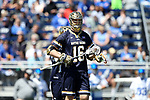 DURHAM, NC - APRIL 08: Notre Dame's Sergio Perkovic. The Duke University Blue Devils hosted the University of Notre Dame Fighting Irish on April 8, 2017, at Koskinen Stadium in Durham, NC in a Division I College Men's Lacrosse match. Duke won the game 11-8.