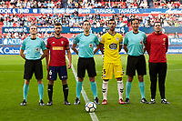 CA Osasuna and CD Lugo during the Spanish la League soccer match between CA Osasuna and CD Lugo at Sadar stadium, in Pamplona, Spain, on Saturday, <br /> April 28, 2018.