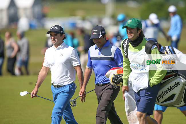 Spanish speaking duo of Fabrizio Zanotti (PAR) & Felipe Aguilar (CHI) during Round Two of the 2015 Nordea Masters at the PGA Sweden National, Bara, Malmo, Sweden. 05/06/2015. Picture David Lloyd | www.golffile.ie