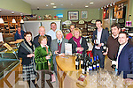 Wine Tasting: Sampling an arraay of wines by Enrico Fantasia Grape Cirus & Christopher Lisowski Bubble Brothers at JOHNR'S Delicatessen Listowel on Sunday evening were Margaret Hegarty, Sally & Oliver O'Neill, Kathleen Houlihan, Enrico Fantasia andSean Gargano. At the back is Jimmy Deenihan, TD., Pierce Walsh (proprietor) Pietro Stoccoro and Chtistopher Lisowski.