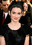 "HOLLYWOOD, CA. - April 30: Winona Ryder arrives at the Los Angeles premiere of ""Star Trek"" at the Grauman's Chinese Theater on April 30, 2009 in Hollywood, California."