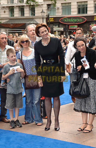 "SIGOURNEY WEAVER .Attending the UK Film Premiere of Disney Pixar's ""Wall-e"" at Empire Cinema Leicester Square, London, England, UK, July 13th 2008..WallE Wall*e Wall.E full length black dress belt shoes .CAP/WIZ.©Wizard/Capital Pictures"