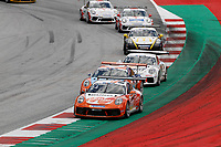 12th July 2020; Spielberg, Austria;  Porsche Mobil 1 Supercup race day;  24 Max van Splunteren NL, Team GP Elite 8 Julian Hanses D, Lechner Racing Middle East held at Spielberg Austria