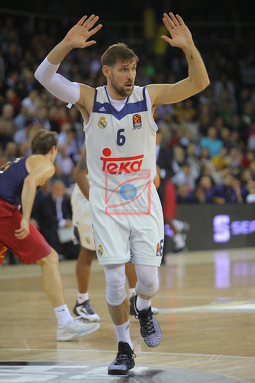 Turkish Airlines Euroleague 2016/2017.<br /> Regular Season - Round 8.<br /> FC Barcelona Lassa vs R. Madrid: 63-102.<br /> Andres Nocioni.