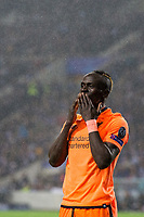Liverpool's Sadio Mane celebrates scoring his side's third goal <br /> <br /> Photographer Craig Mercer/CameraSport<br /> <br /> UEFA Champions League Round of 16 First Leg - FC Porto v Liverpool - Wednesday 14th February 201 - Estadio do Dragao - Porto<br />  <br /> World Copyright &copy; 2018 CameraSport. All rights reserved. 43 Linden Ave. Countesthorpe. Leicester. England. LE8 5PG - Tel: +44 (0) 116 277 4147 - admin@camerasport.com - www.camerasport.com