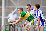 James O'Donoghue breaks away from Tony Grey of Waterford last Saturday in Fitzgerald Stadium for the Munster GAA football championship
