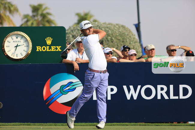 Andy Sullivan (ENG) on the 10th tee during the 2nd round of the season ending DP World Tour Championship, Earth Course, Jumeirah Golf Estates, Dubai, UAE.  20/11/2015.<br /> Picture: Golffile | Fran Caffrey<br /> <br /> <br /> All photo usage must carry mandatory copyright credit (&copy; Golffile | Fran Caffrey)