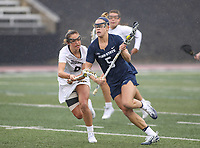 Towson, MD - February 10, 2018: Penn State Katie O'Donnell (5) in action during game between Towson and Penn St at  Minnegan Field at Johnny Unitas Stadium  in Towson, MD.   (Photo by Elliott Brown/Media Images International)