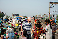 Father Laborde during his visit to Tikiapara slum area in Howrah. West Bengal, India, Arindam Mukherjee/Agency Genesis