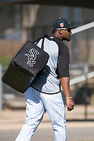 Chicago White Sox outfielder Luis Alexander Basabe (73) during Spring Training Camp on February 25, 2018 at Camelback Ranch in Glendale, Arizona. (Zachary Lucy/Four Seam Images)