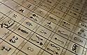 11/07/06 - THIERS - PUY DE DOME - FRANCE - Collection du Musee de la Coutellerie. Table des marques des artisans couteliers - Photo Jerome CHABANNE