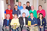 Jason Higgins, Aghadoe Heights Hotel, Killarney, pictured presenting first prize to Michael Quirke, joint winner, in the ladies fundraiser at Beaufort Golf Club on Thursday evening. Also pictured are Gerry Collins, president, Sheila McCarthy, lady vice captain, Margaret Lanigan, lady captain, Michael John O'Connor, nearest the pin, Rory Browne and Shane O'Sullivan, joint first, Jerry O'Shea and Pat Buckley, joint third and Eamon Reidy with Joe McMahon, joint second...NBO FEE...
