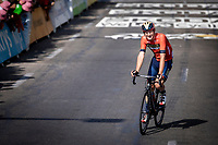 Matej Mohoric (SVK/Bahrain Merida) finishing exhausted after a very hot day. <br /> <br /> Stage 16: Nimes to Nimes (177km)<br /> 106th Tour de France 2019 (2.UWT)<br /> <br /> ©kramon