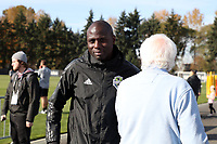 TUKWILA, WA - NOVEMBER 08: Assistant coach Djimi Traore of the Seattle Sounders FC at Starfire Sports Complex on November 08, 2019 in Tukwila, Washington.